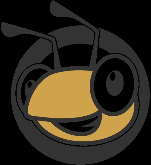 可爱卡通小蚂蚁logo图标素材