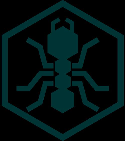 六边形蚂蚁logo素材图片