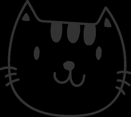手绘风可爱小猫咪矢量图形