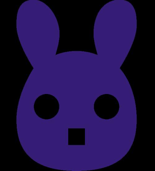 兔子卡通形象logo