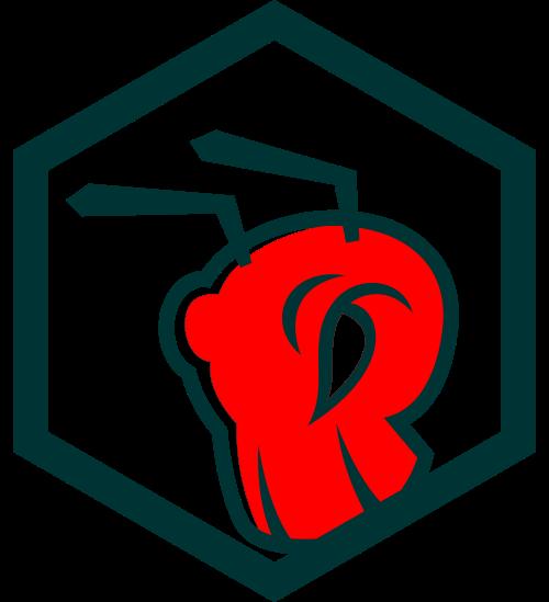 六边形蚂蚁logo图标素材