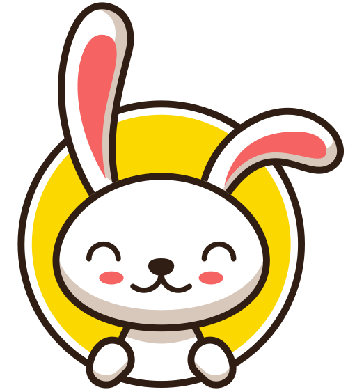 可爱卡通兔子形象logo素材
