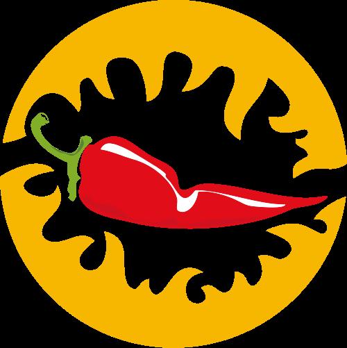 圆形辣椒矢量图标素材