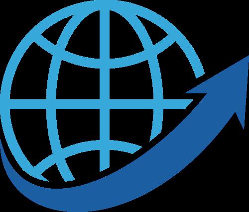 蓝色地球货运logo图标素材