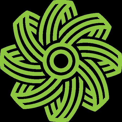 绿色花朵图案logo矢量图标素材