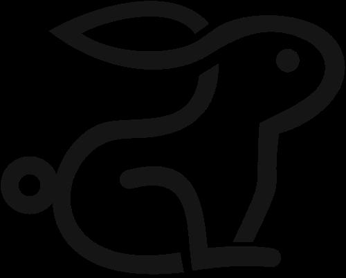 兔子线条logo图标