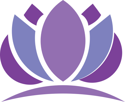 紫色莲花养生素食瑜伽logo图标素材