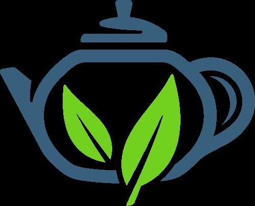 茶壶茶叶矢量图形