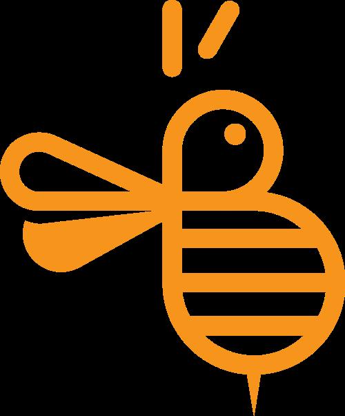 可爱小蜜蜂矢量图形