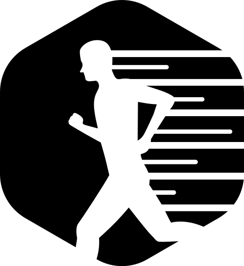 六边形跑步运动矢量图形