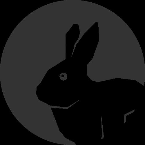 圆形兔子矢量logo素材