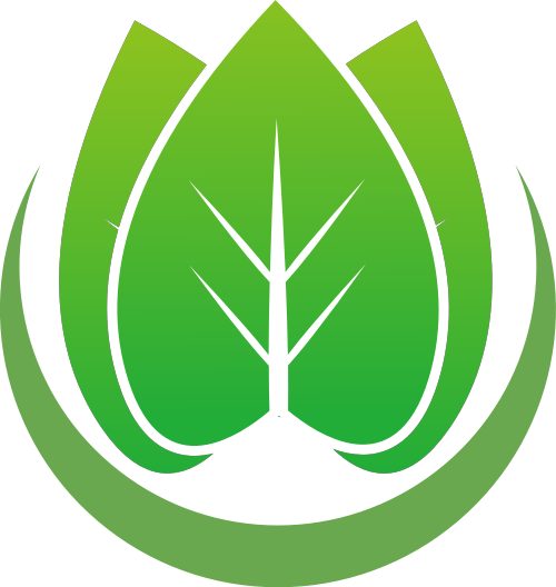 绿色渐变圆形叶子环保环境茶叶矢量图标素材
