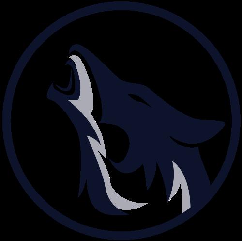 狼咆哮logo图标素材