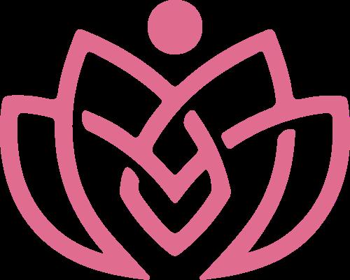 女性美容花瓣logo素材