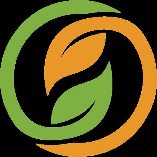 圆形绿色茶叶logo图标素材