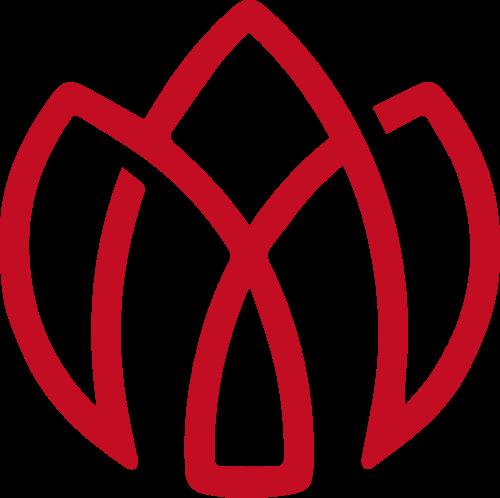 线条花形logo图标素材