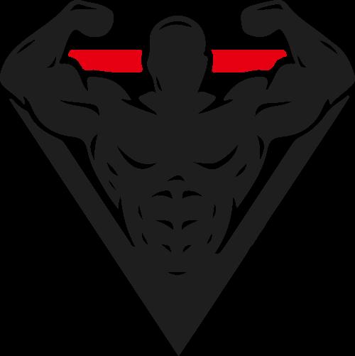 健身肌肉三角形