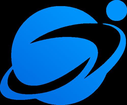 蓝色渐变星球科技矢量logo