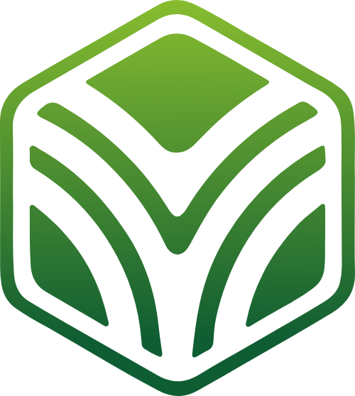 绿色渐变六边形矢量logo矢量logo