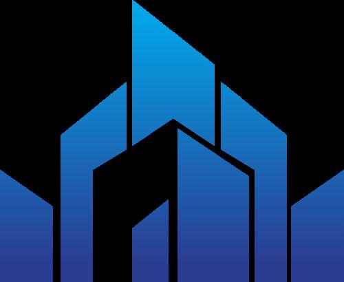 蓝色渐变建筑矢量logo