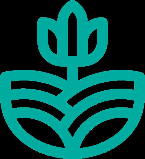 简约花草图像矢量logo矢量logo