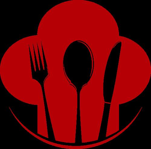 餐具创意矢量logo