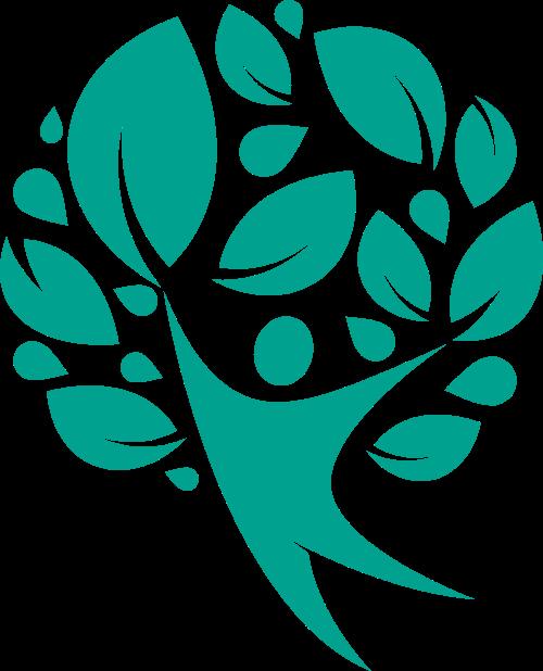 树叶飞舞环保创意矢量logo