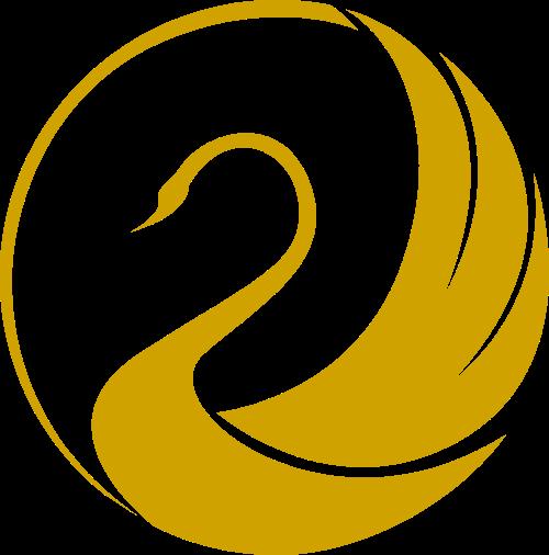 圆形天鹅矢量logo矢量logo