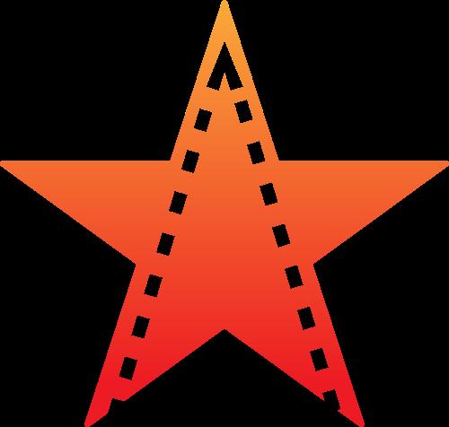 星星胶片创意矢量logo