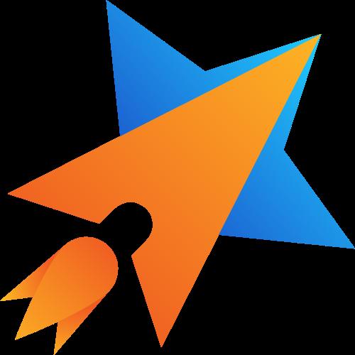 火箭五角星创意矢量logo