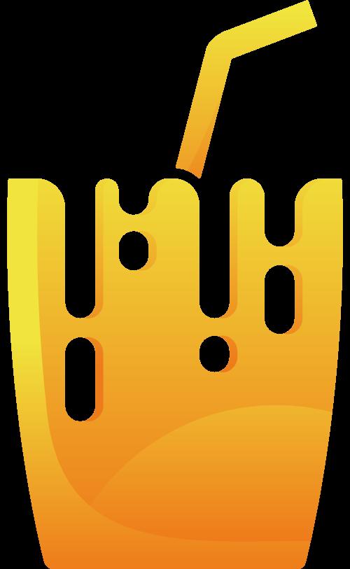 橙色渐变果汁矢量logo
