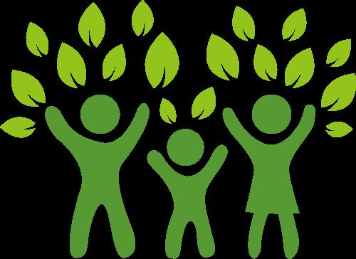 一家三口保护环境矢量logo矢量logo