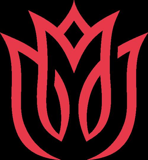 红色花朵矢量logo