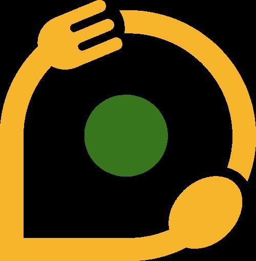 刀叉创意矢量logo