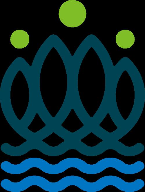 简约波浪钓鱼矢量logo
