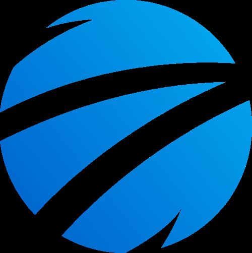 蓝色渐变圆形矢量logo