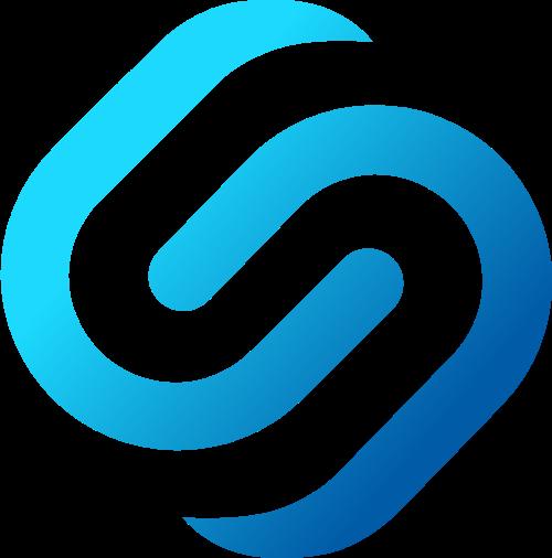 蓝色渐变s字母创意logo