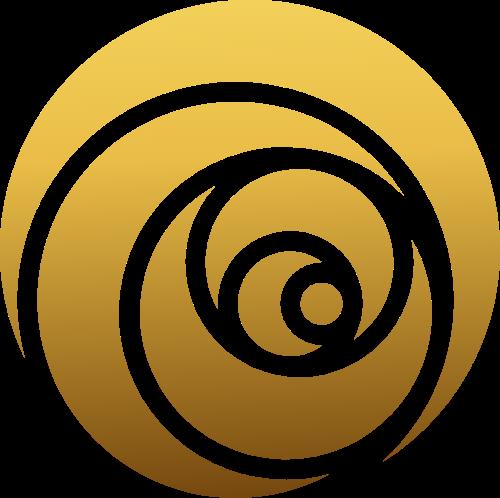 金色花朵剪纸矢量logo
