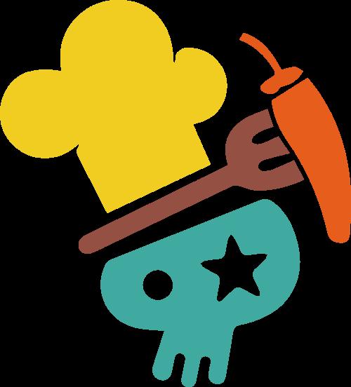 卡通餐饮创意矢量logo