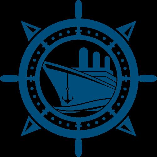 邮轮船舵创意矢量logo