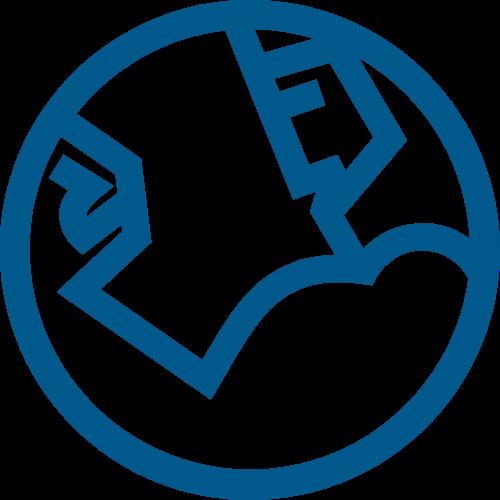 蓝色健身创意图形矢量logo