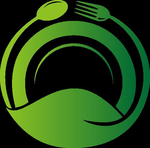 渐变餐具创意矢量logo
