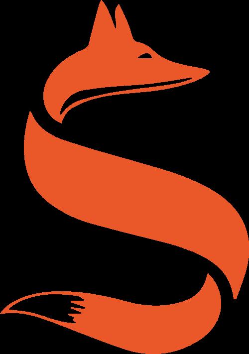 字母s创意狐狸形象矢量logo