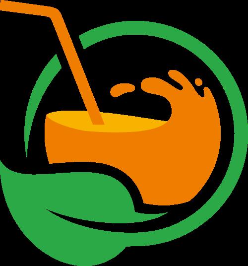 果汁创意矢量logo
