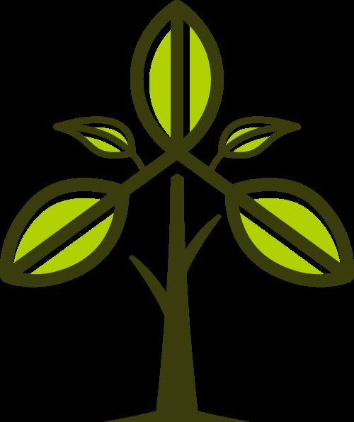 卡通树木矢量logo矢量logo
