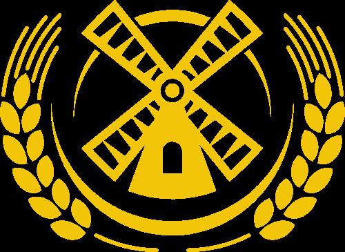 小麦风车矢量logo
