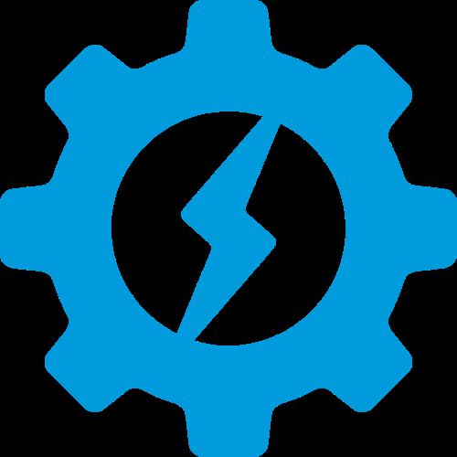 齿轮闪电创意图形矢量logo