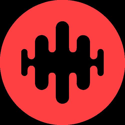 红色音频矢量logo