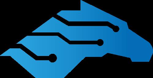 科技马芯片创意矢量logo