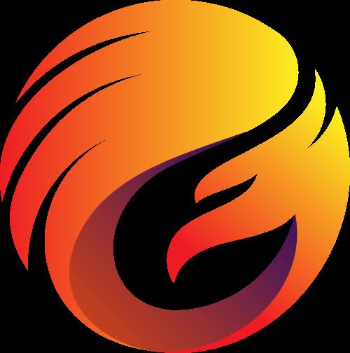 凤凰圆形矢量logo
